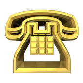 Telephone clipart gold Symbol phone Illustrations GoGraph Stock