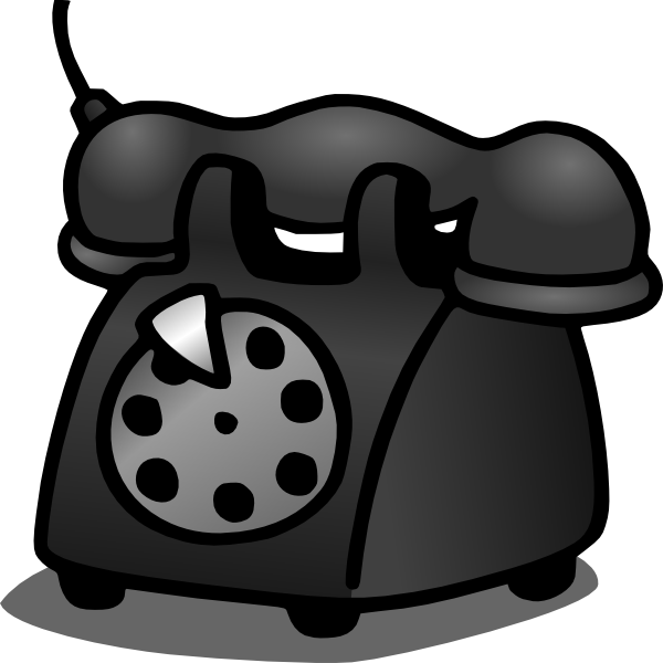 Telephone clipart home phone Telephone this image Clker com