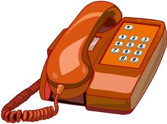 Telephone clipart home phone Phone Clipart Free