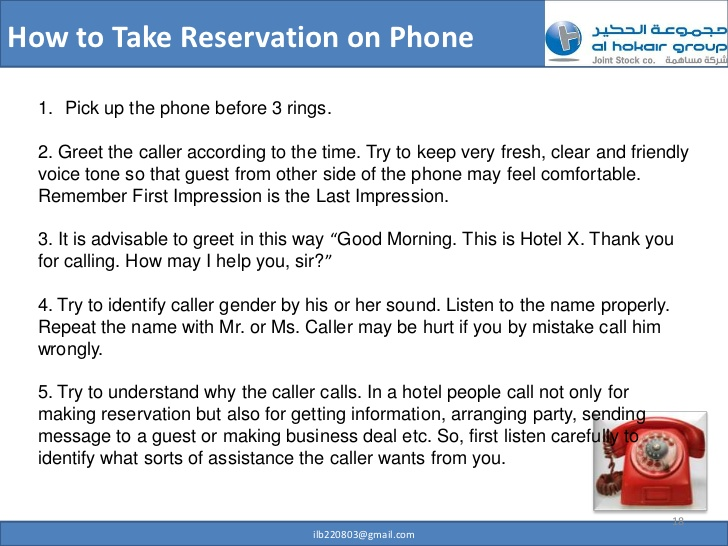 Telephone clipart hotel reservation Phone How 17 Take to