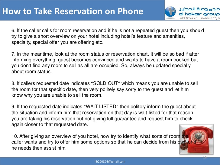 Telephone clipart hotel reservation Phone How 18 Take to