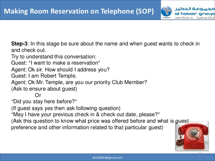 Telephone clipart hotel reservation Professional Making 22 Reservation Room