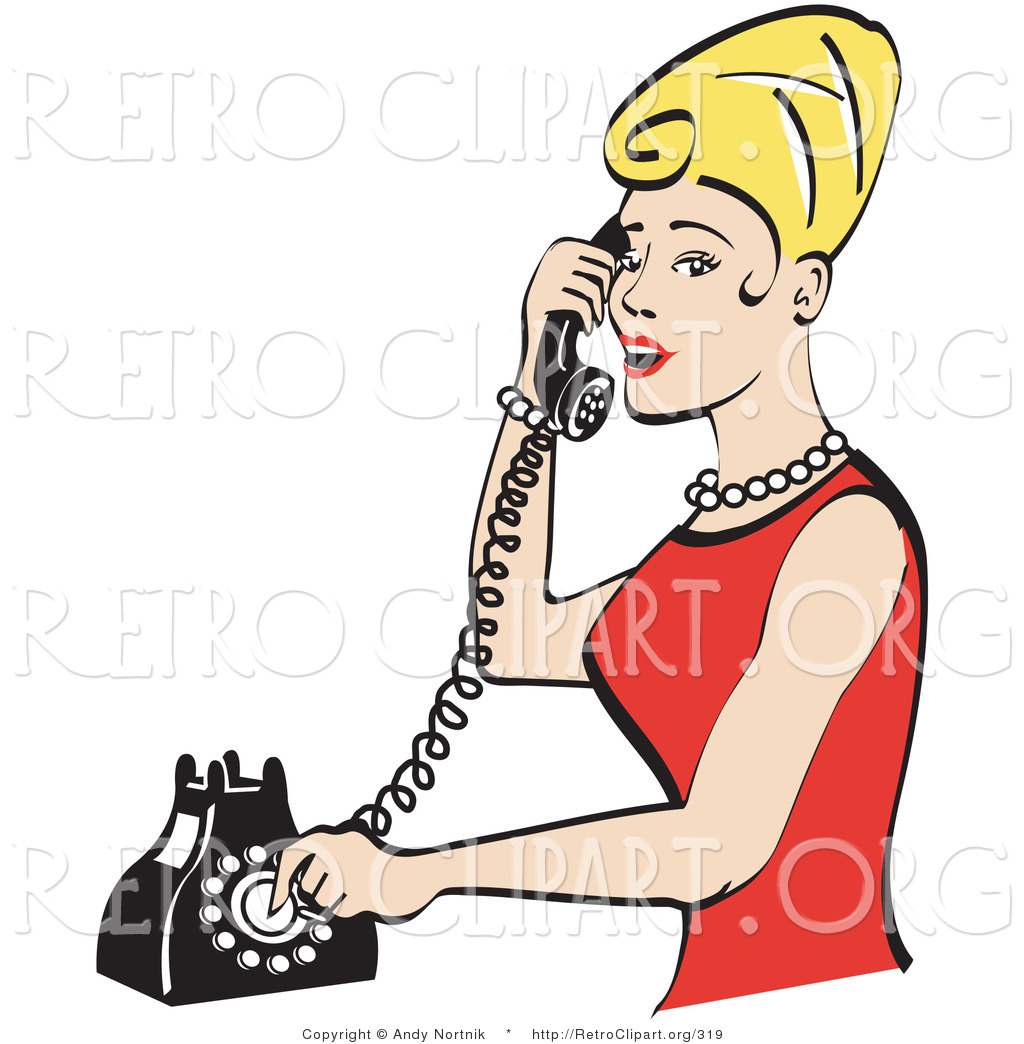 Phone clipart landline phone Free Retro Retro Royalty Free