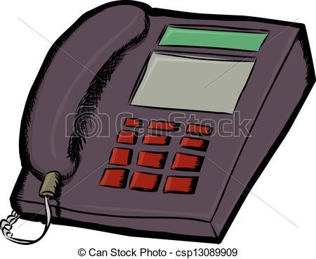 Phone clipart landline phone Line Clipart  Land Telephone