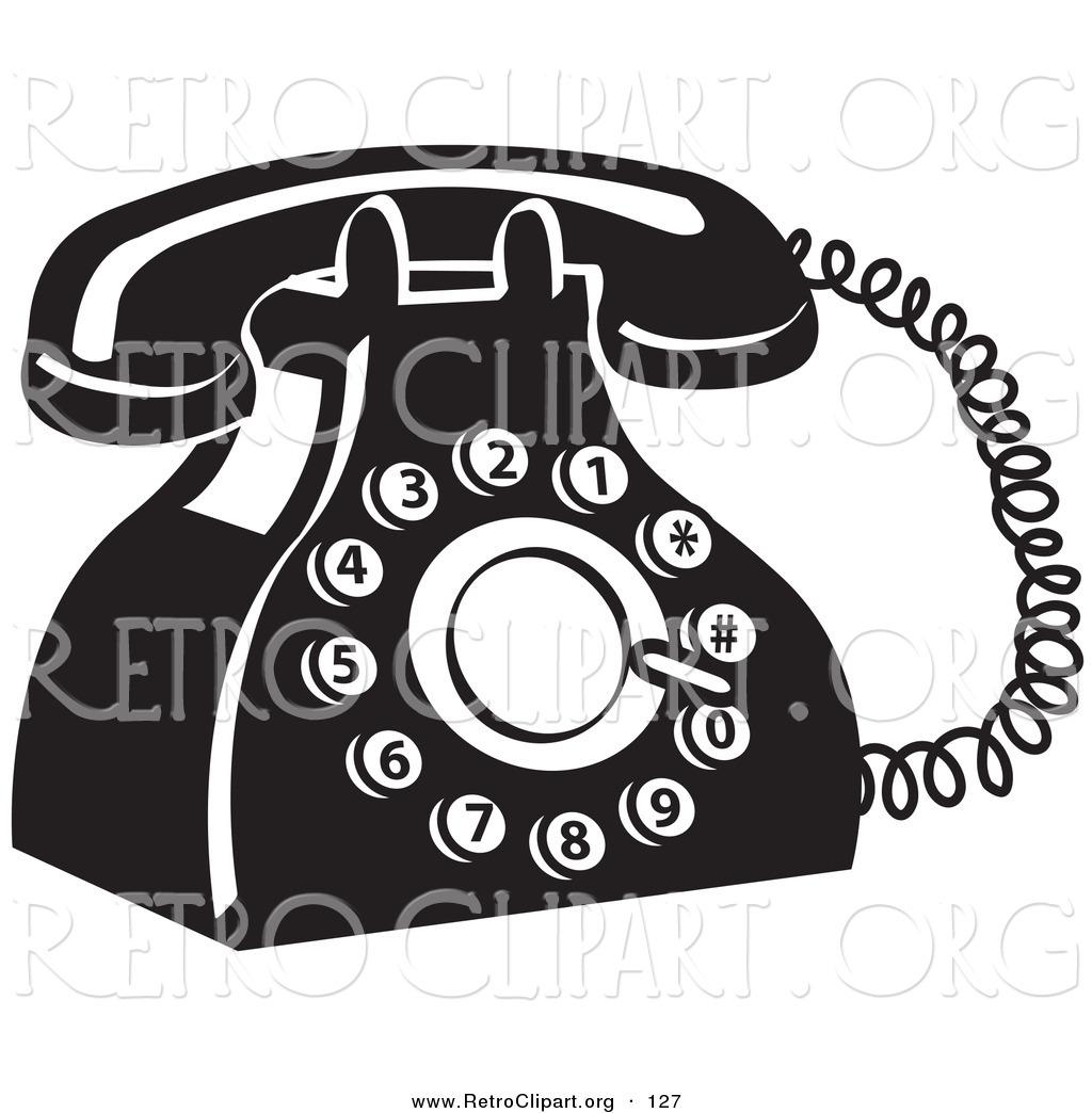 Phone clipart landline phone Royalty Stock  Phone Designs