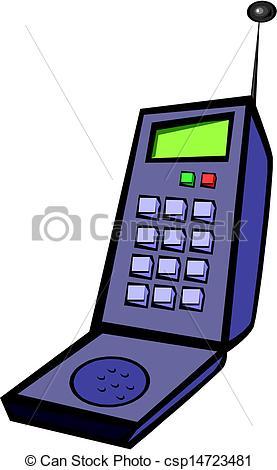Telephone clipart mobile logo  Old csp14723481 Clip Art