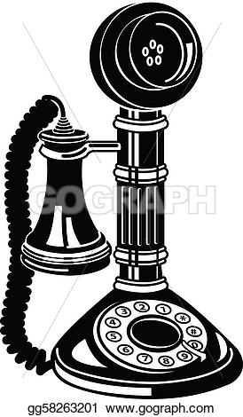 Telephone clipart old phone Old P Telephone Antique Clipart