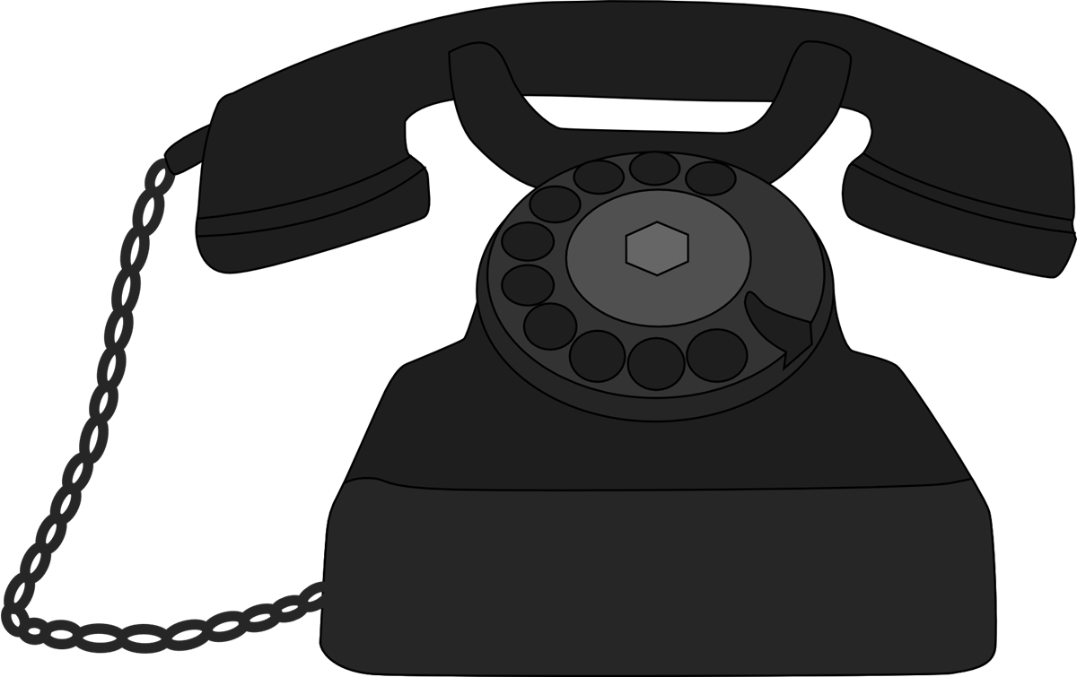 Telephone clipart old phone And clipart black transparent background