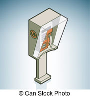Telephone clipart public phone Booth phone of Vector