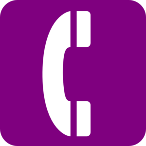 Telephone clipart purple Phone Art  online vector