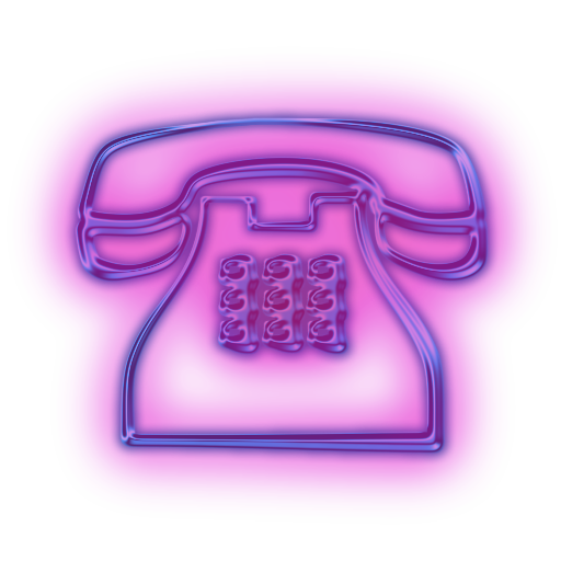 Telephone clipart purple Cliparts phone clipart Neon Zone