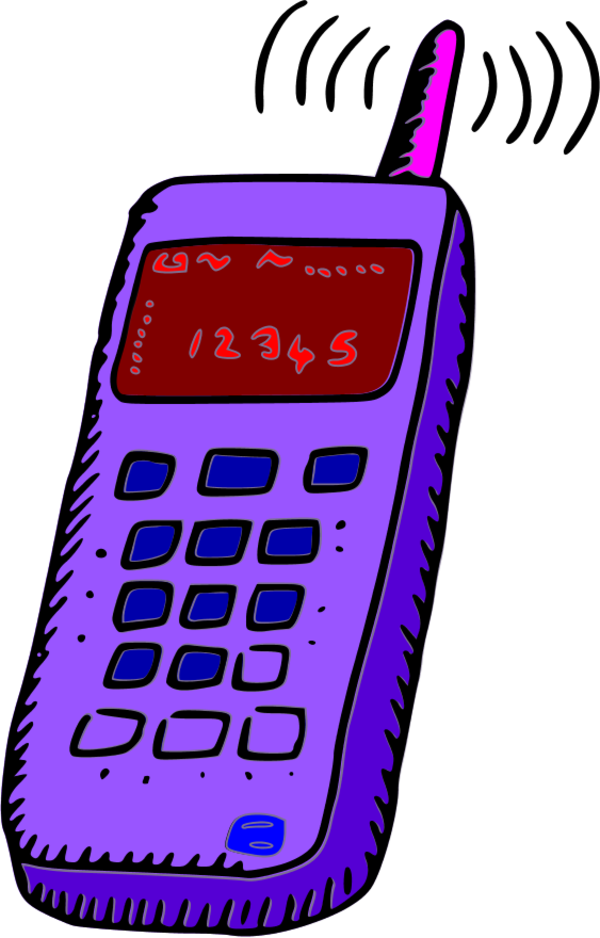Telephone clipart purple Cell Free  on Free