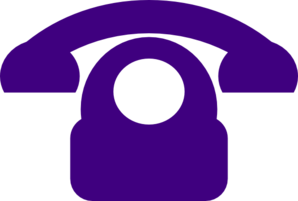 Telephone clipart purple Clip Clker art online Telephone