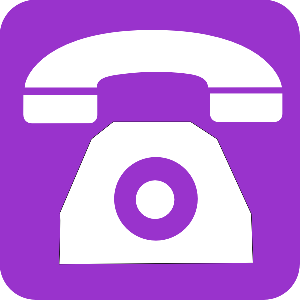 Telephone clipart purple Art com online  this