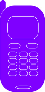 Telephone clipart purple Phone Phone cell phone Phone