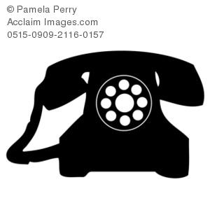 Telephone clipart rotary phone Phone Rotary Art Rotary of