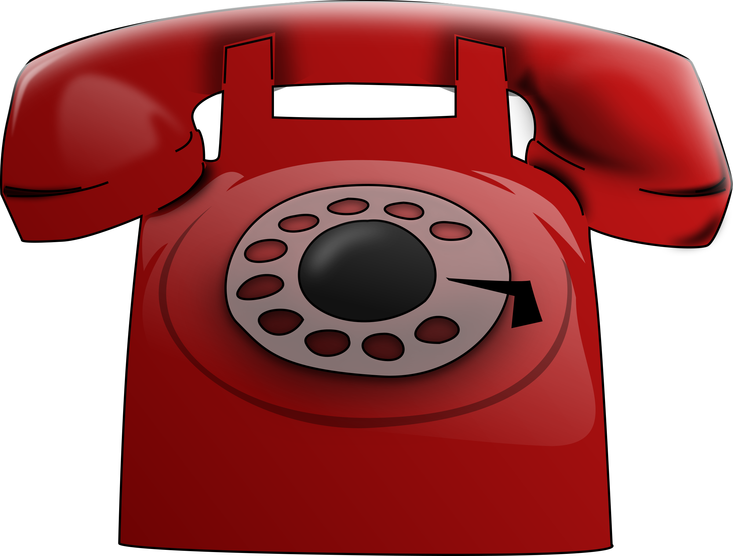 Telephone clipart rotary phone Clipart Phone Red Red Phone