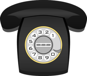 Telephone clipart rotary phone Clip  Telephone Art vector