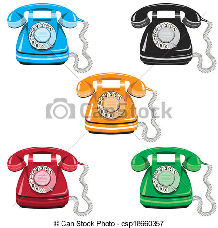 Telephone clipart rotary phone Csp18660357  phone phone Clipart