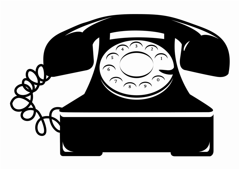 Telephone clipart rotary phone Decals Telephone Wall Vintage