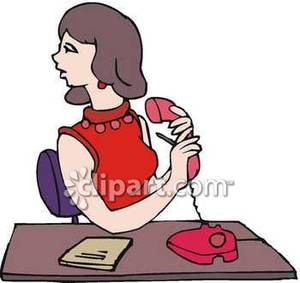 Telephone clipart secretary Giving Royalty Picture Art Message
