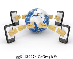 Telephone clipart sms Clipart Drawing messages mobile sms