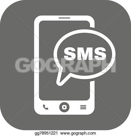 Telephone clipart sms Vector illustration Illustration The flat