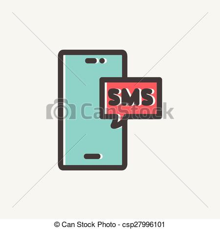 Telephone clipart sms Csp27996101 Vector phone with icon