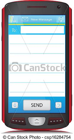 Telephone clipart sms Space for for SMS of