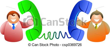 Phone clipart telephone conversation Men having Stock Illustration of