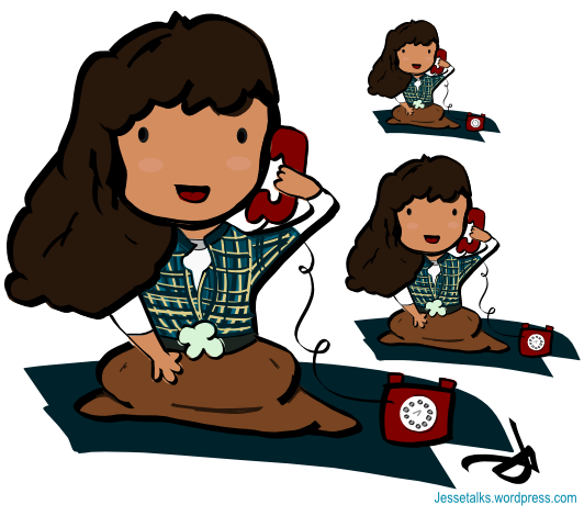 Phone clipart telephone conversation Clipart / Vector rooroo –