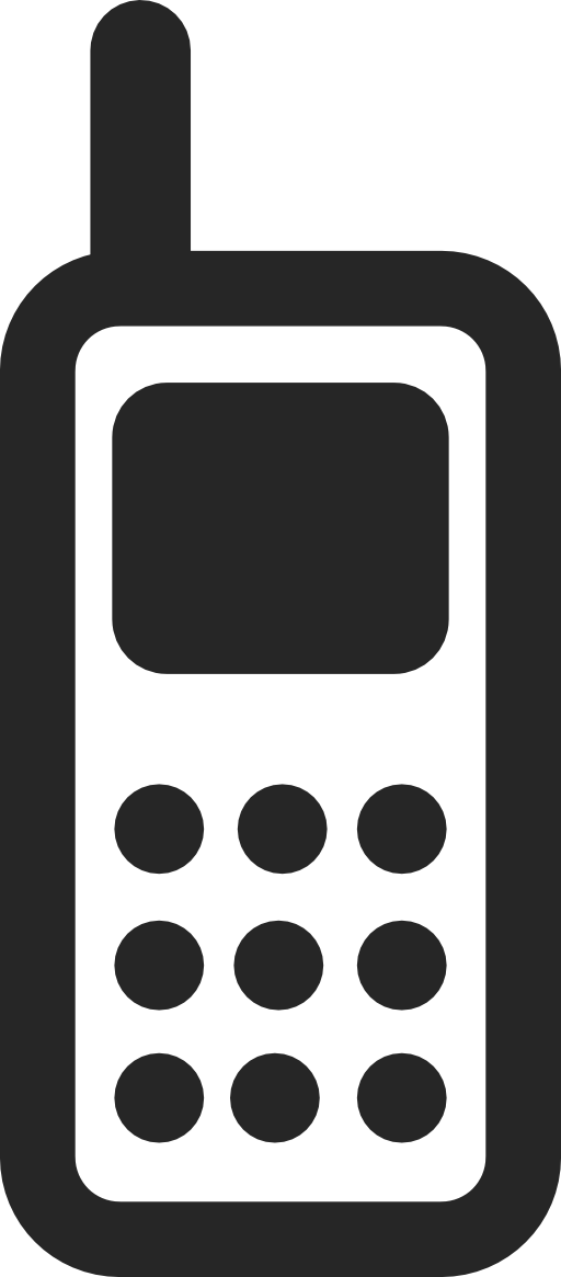 Phone clipart black and white #15