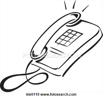 Phone clipart black and white #14