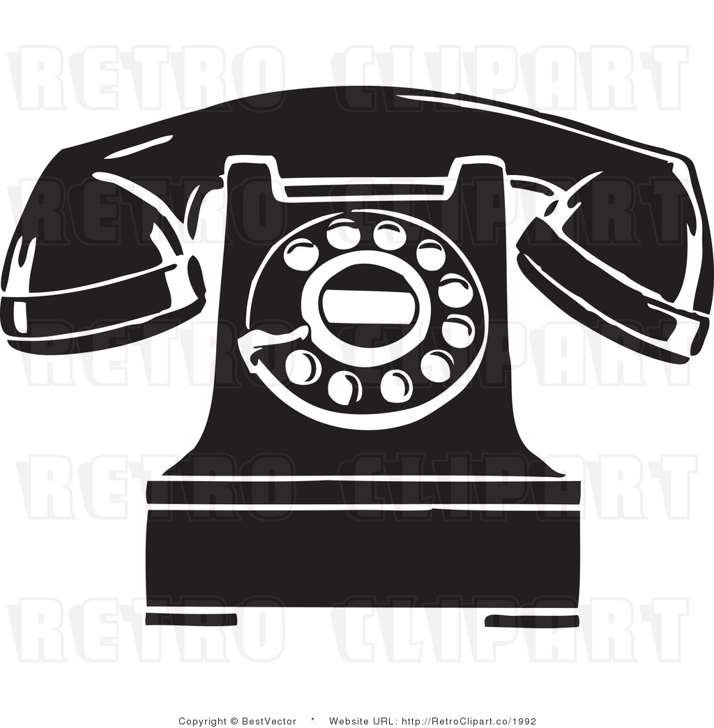 Telephone clipart vintage telephone Phone art of Clip Old