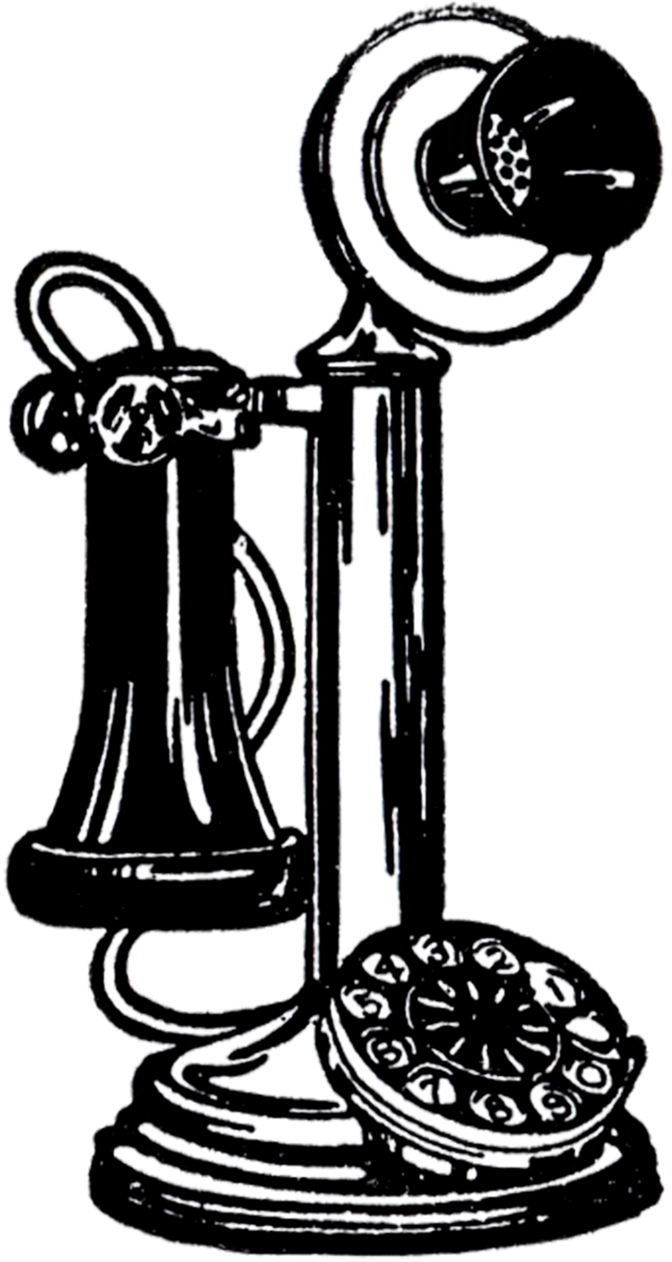 Telephone clipart vintage telephone Vintage art of Clip Old