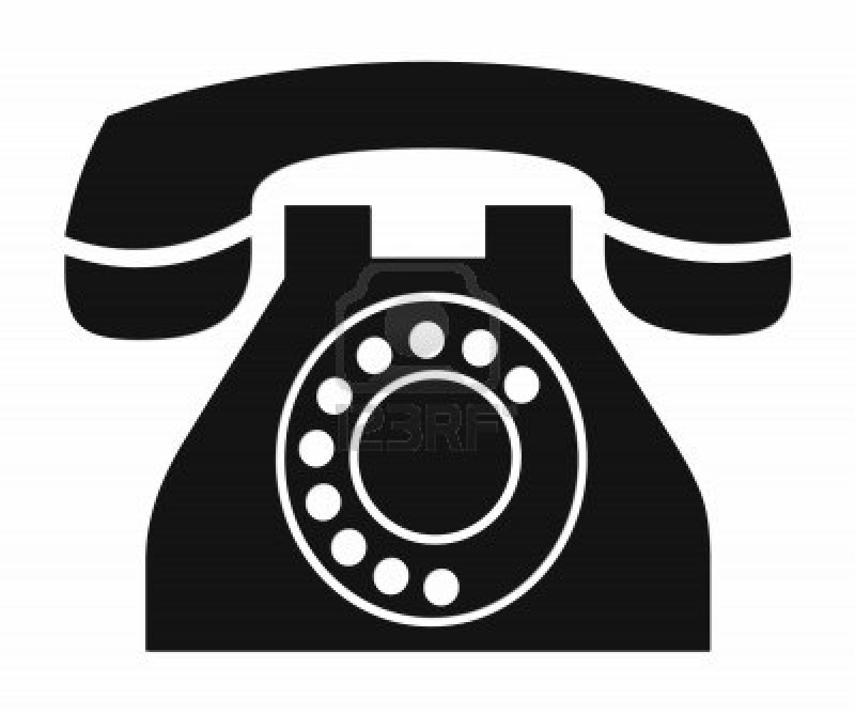 Telephone clipart white png Black Phone Clipart  White