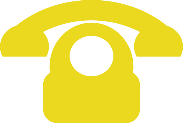 Telephone clipart yellow As: Clker clip online