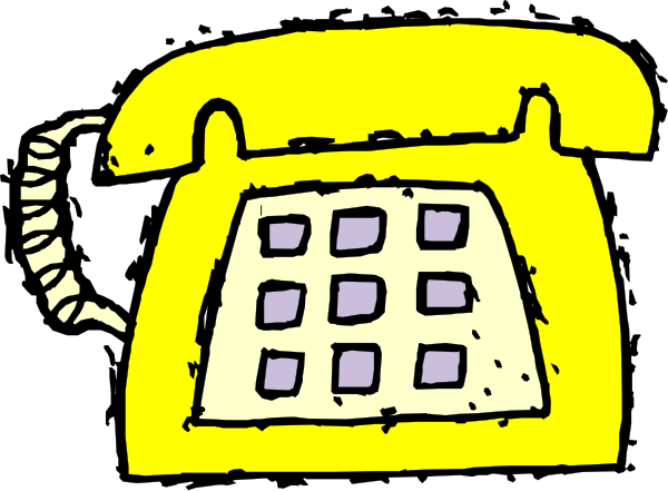 Telephone clipart yellow Clipart Clipart phone%20clipart Panda Phone