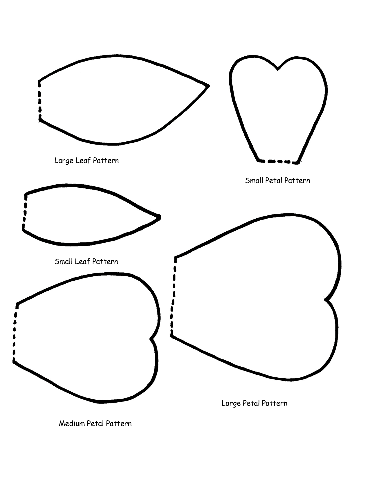 Templates  clipart Flower Large Flower Petal