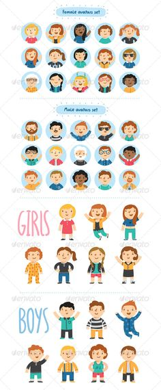 Templates  clipart avatar In Flat Avatars Professions Characters