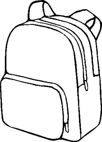 Bag clipart black and white Backpack Clipartix Clipart 5 Pictures