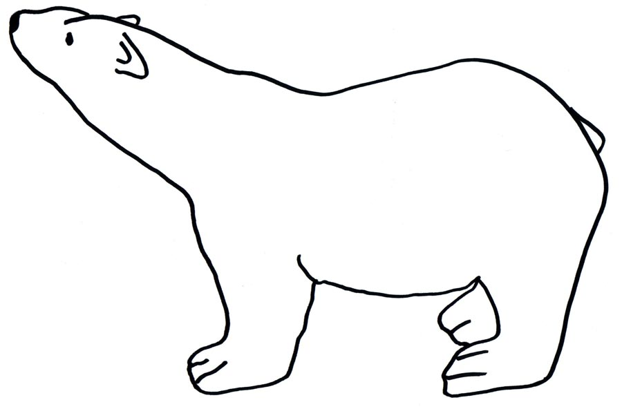 Drawn polar  bear black and white Clip Free  Pictures Download