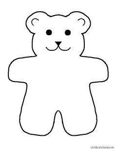 Teddy clipart outline Bear template teddy Teddy Pinterest