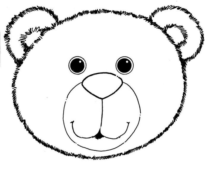 Teddy clipart head #9