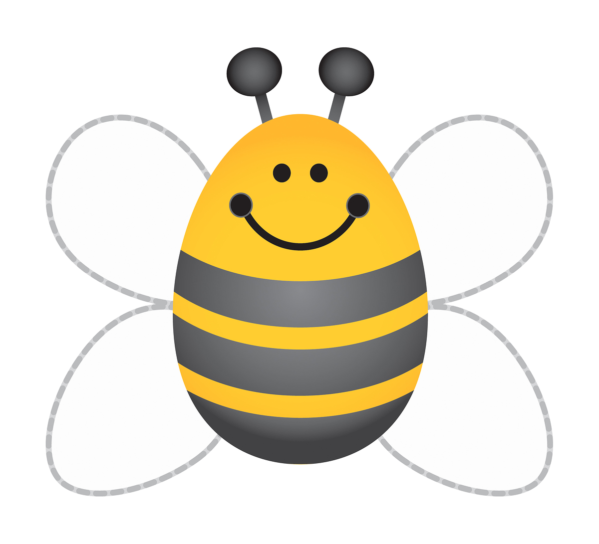 Bees clipart preschool Clip Template library Bee Template