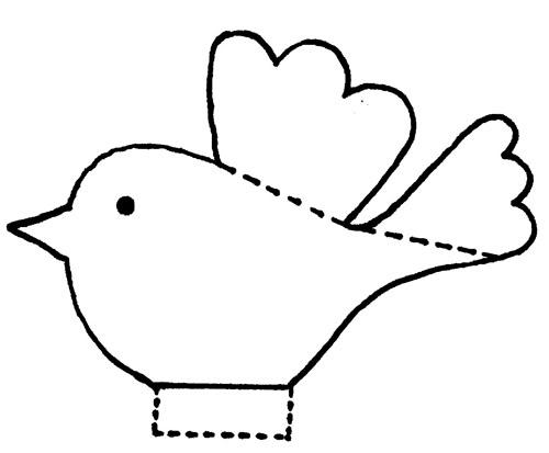 Bird clipart template Make multiple template; hang mobile