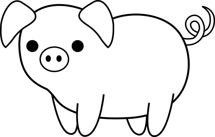 Simple clipart pig #3