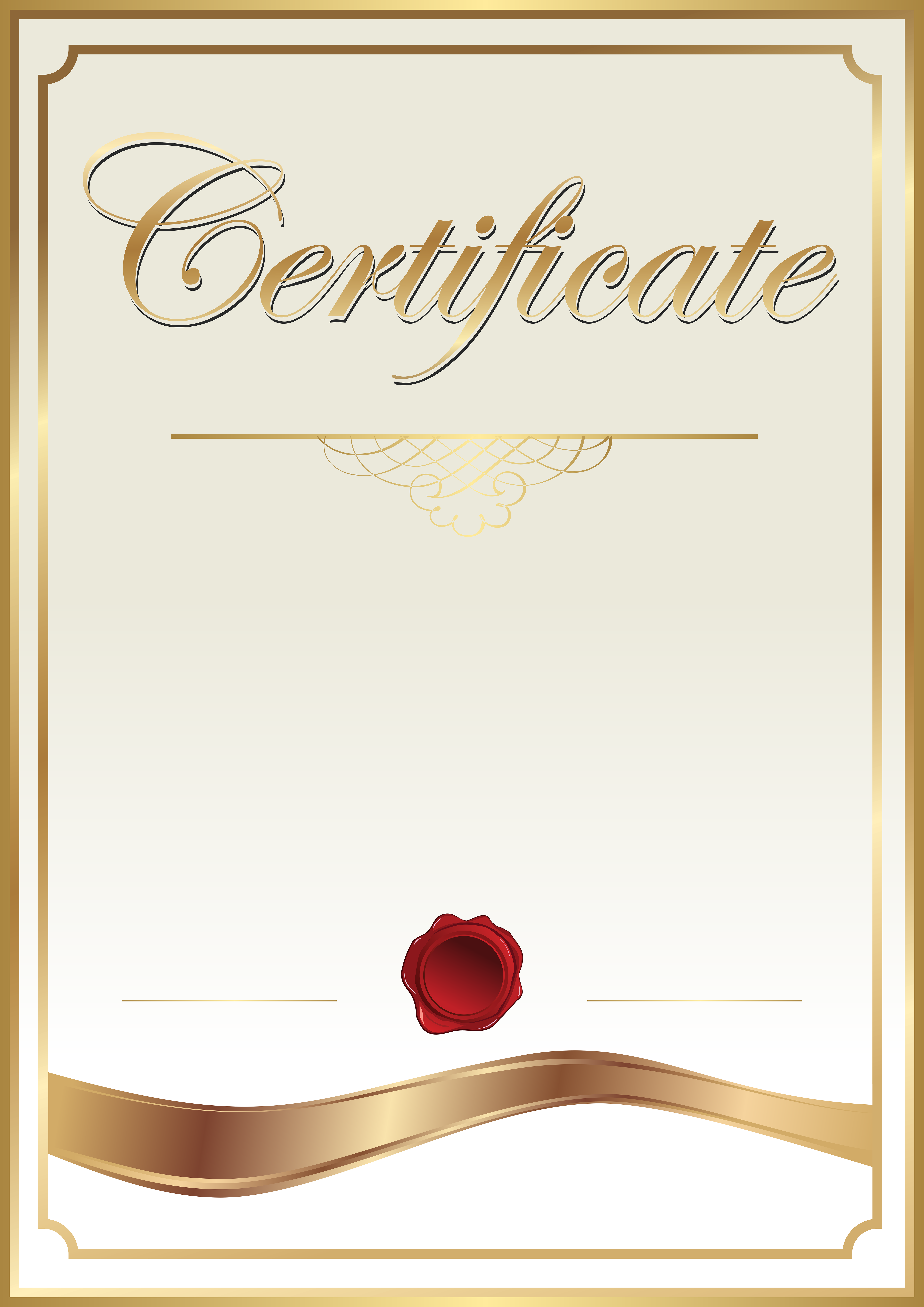 Templates  clipart cert View PNG Gallery Template size