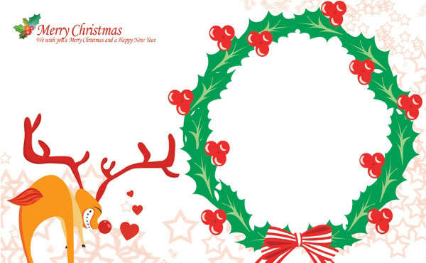 Templates  clipart christmas card Coloring Christmas Cards (12) Templates