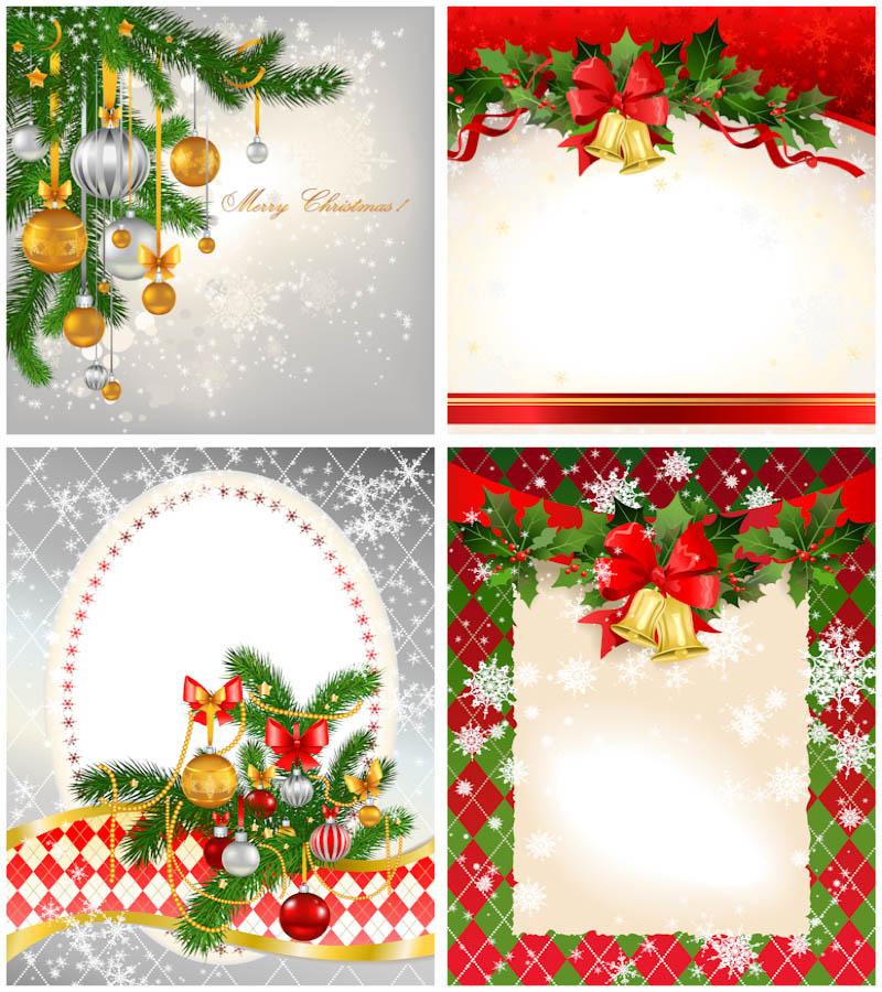 Templates  clipart christmas card Christmas Christmas new card Set